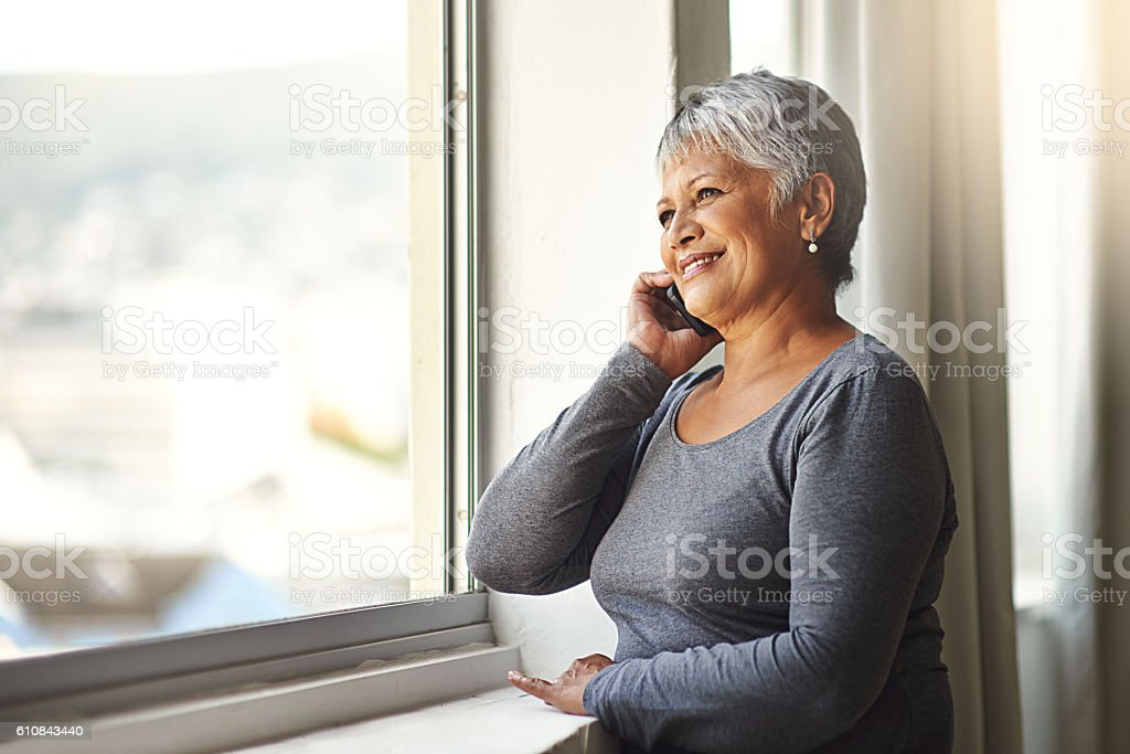One hello can make someone's day stock photo