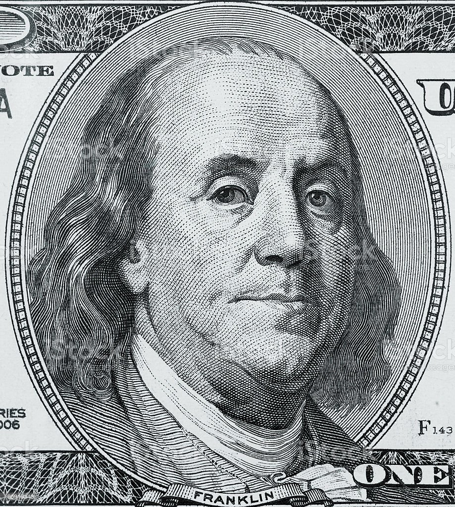 One hundred american dollar close up royalty-free stock photo