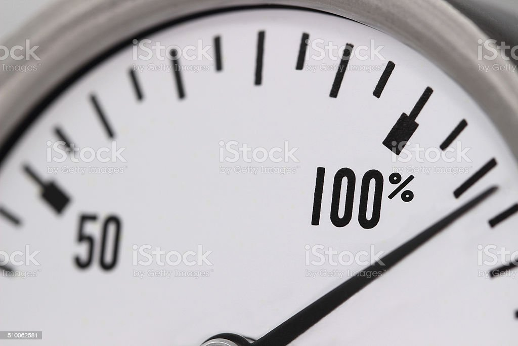 One Hundred and Ten Percent stock photo