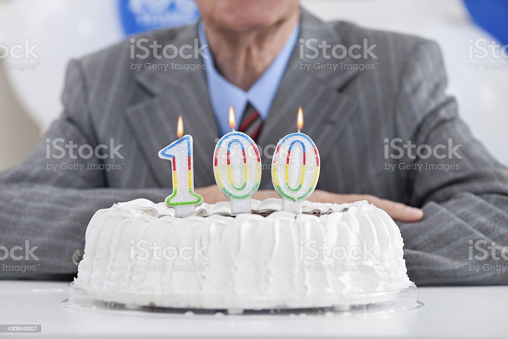 One hundred birthday stock photo