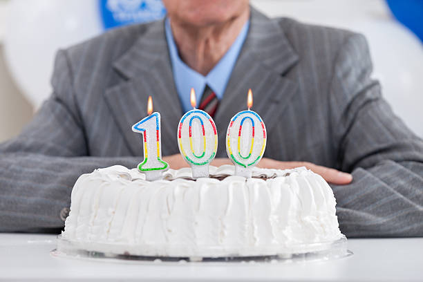 hundert geburtstag - nummer 100 stock-fotos und bilder
