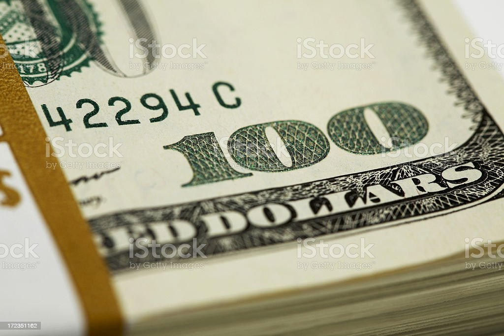 One Hundred Close-Up royalty-free stock photo