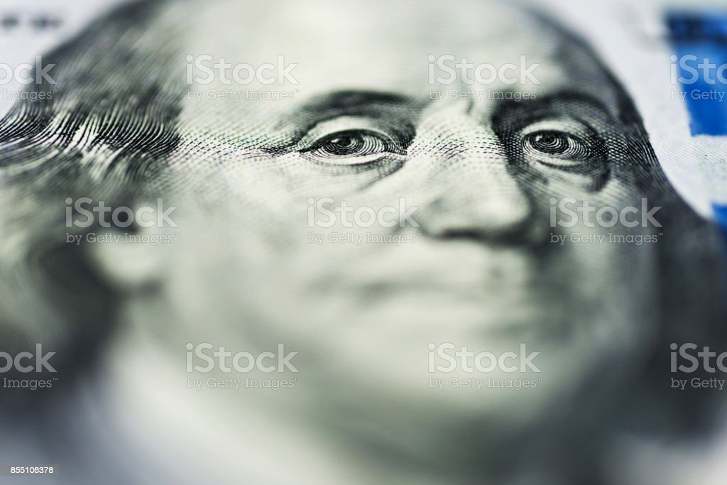 One hundred dollar bill background stock photo