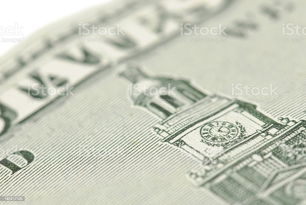 One Hundred Dollar Bill Close Up stock photo