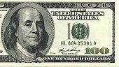 istock One hundred dollar bill macro shot. 528899399