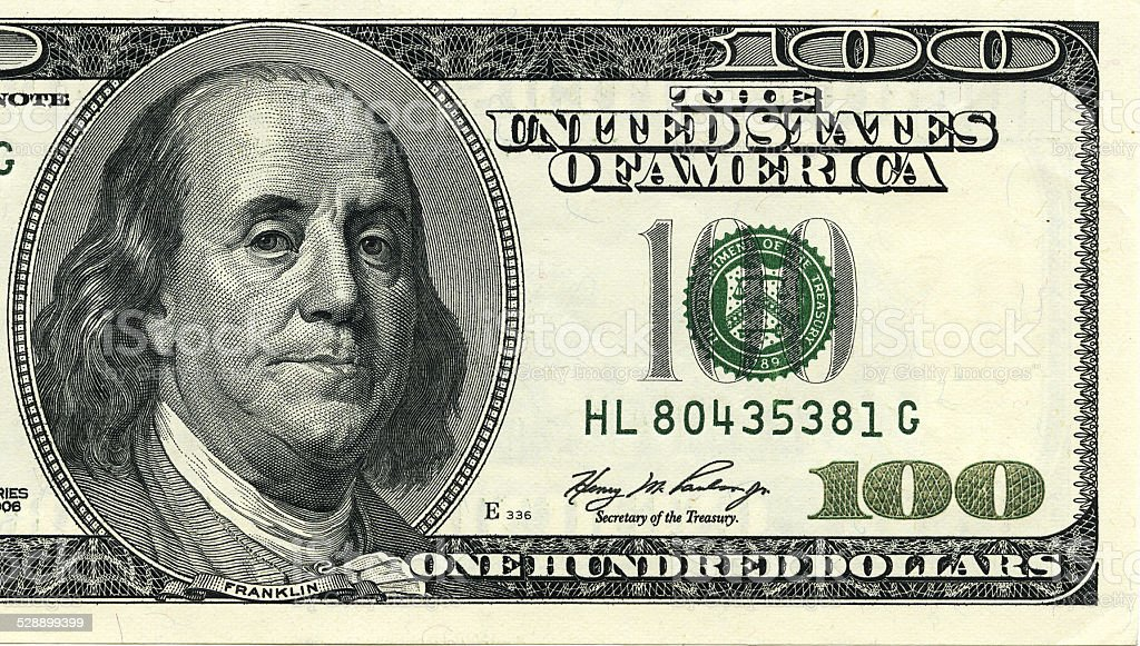 royalty free american one hundred dollar bill pictures, images and