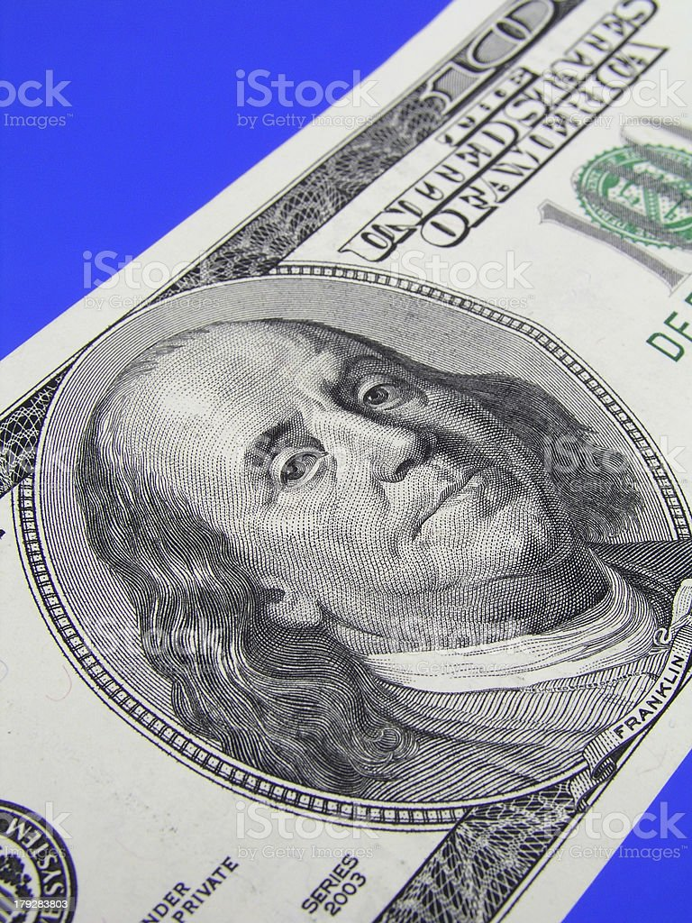 One Hundred Dollar Bill royalty-free stock photo