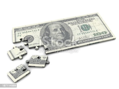 istock A one hundred dollar bill puzzle 187114569