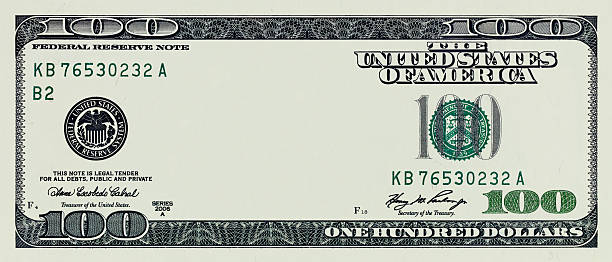 One Hundred Dollar Bill without some original art stock photo