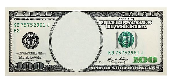 Digitally erased art of a dollar banknote