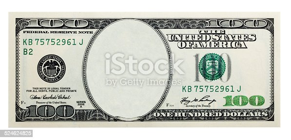 istock One Hundred Dollar Bill without some original 524624825