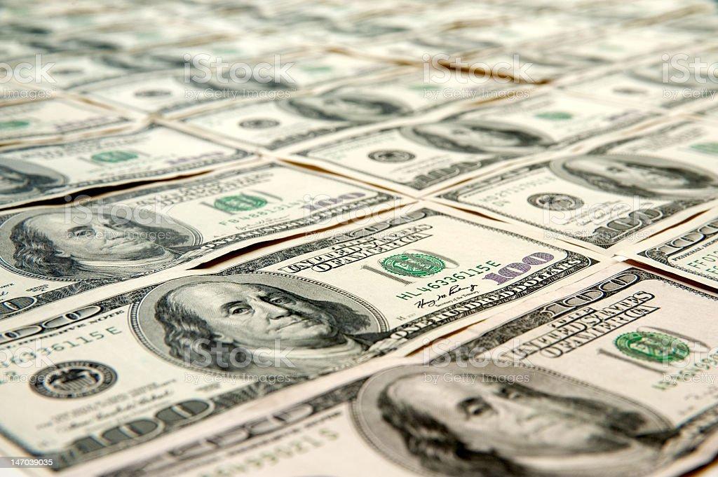 One Hundred Dollar Bills stock photo
