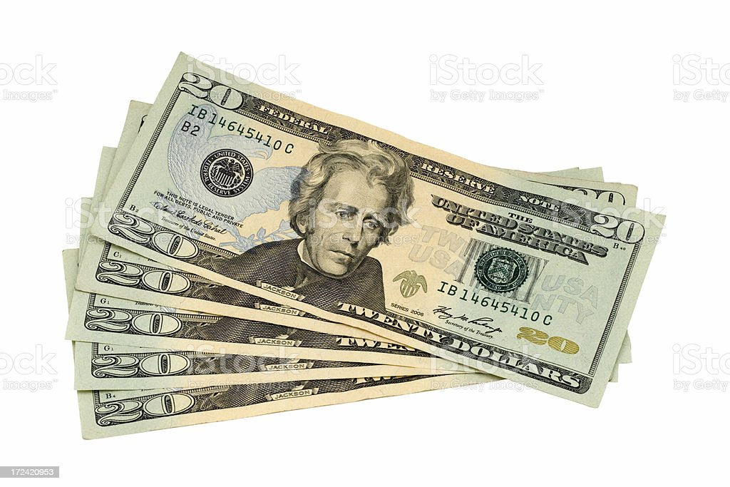 One Hundred Dollars Cash royalty-free stock photo