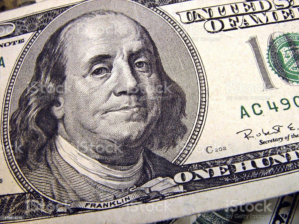 One Hundred Dollars royalty-free stock photo