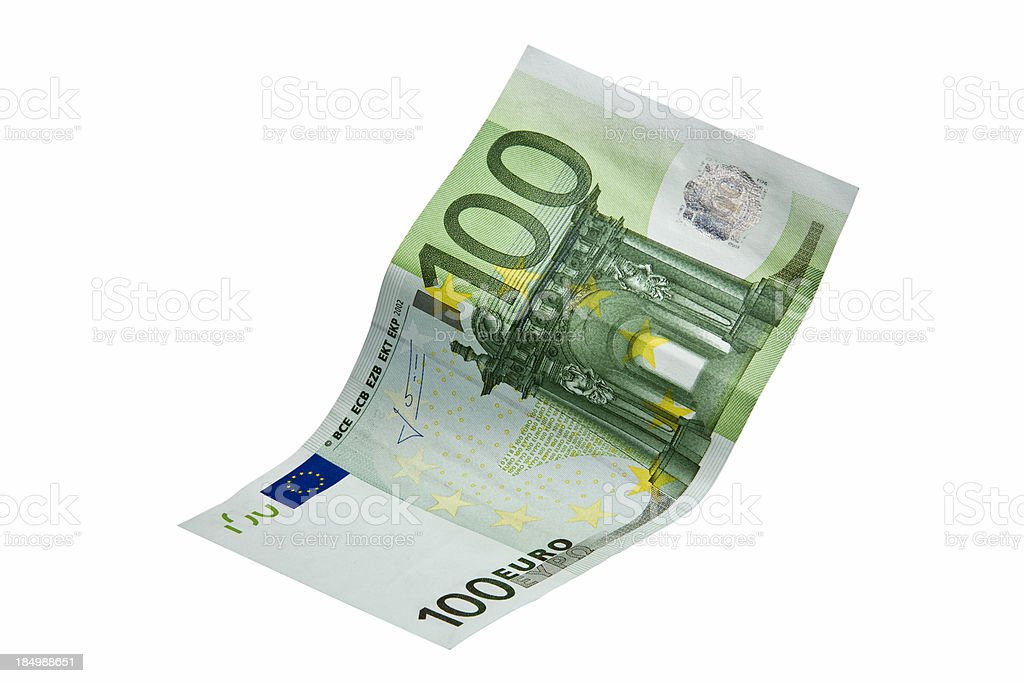 one hundred Euro banknote royalty-free stock photo