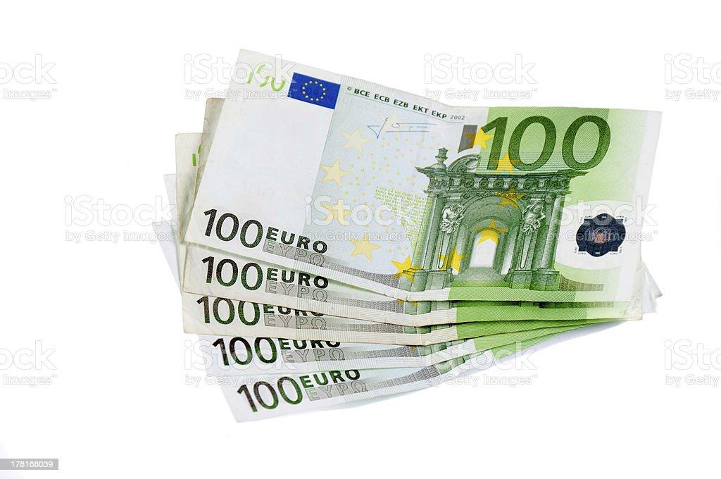 One hundred euro stock photo