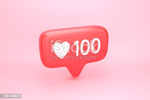 istock One hundred likes social media notification with heart icon 1094496034