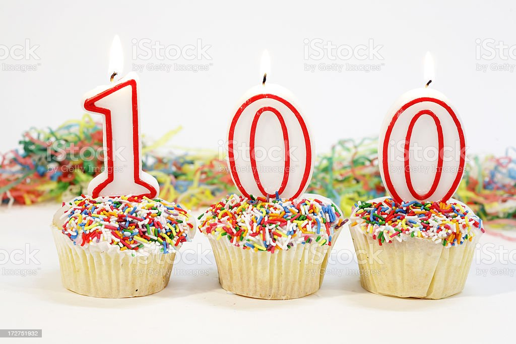 One Hundred Party Cake stock photo