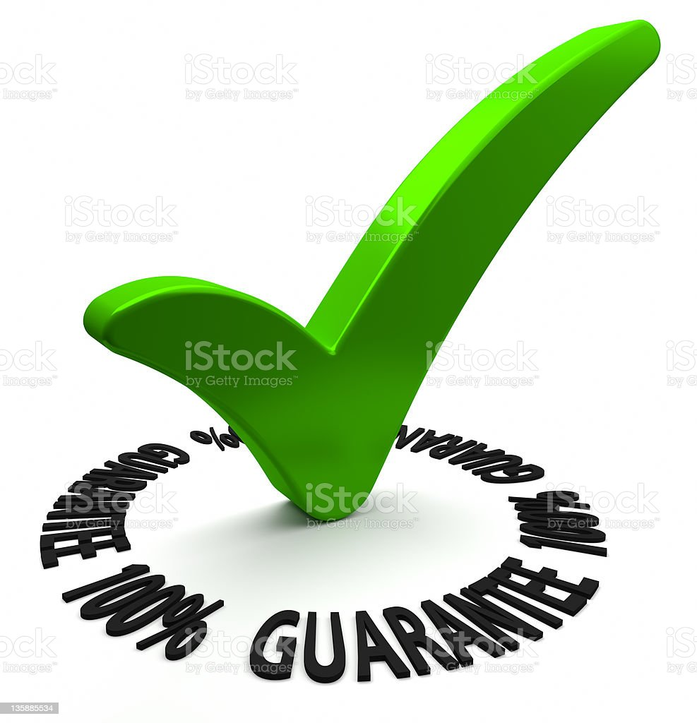One Hundred Percent Guarantee stock photo