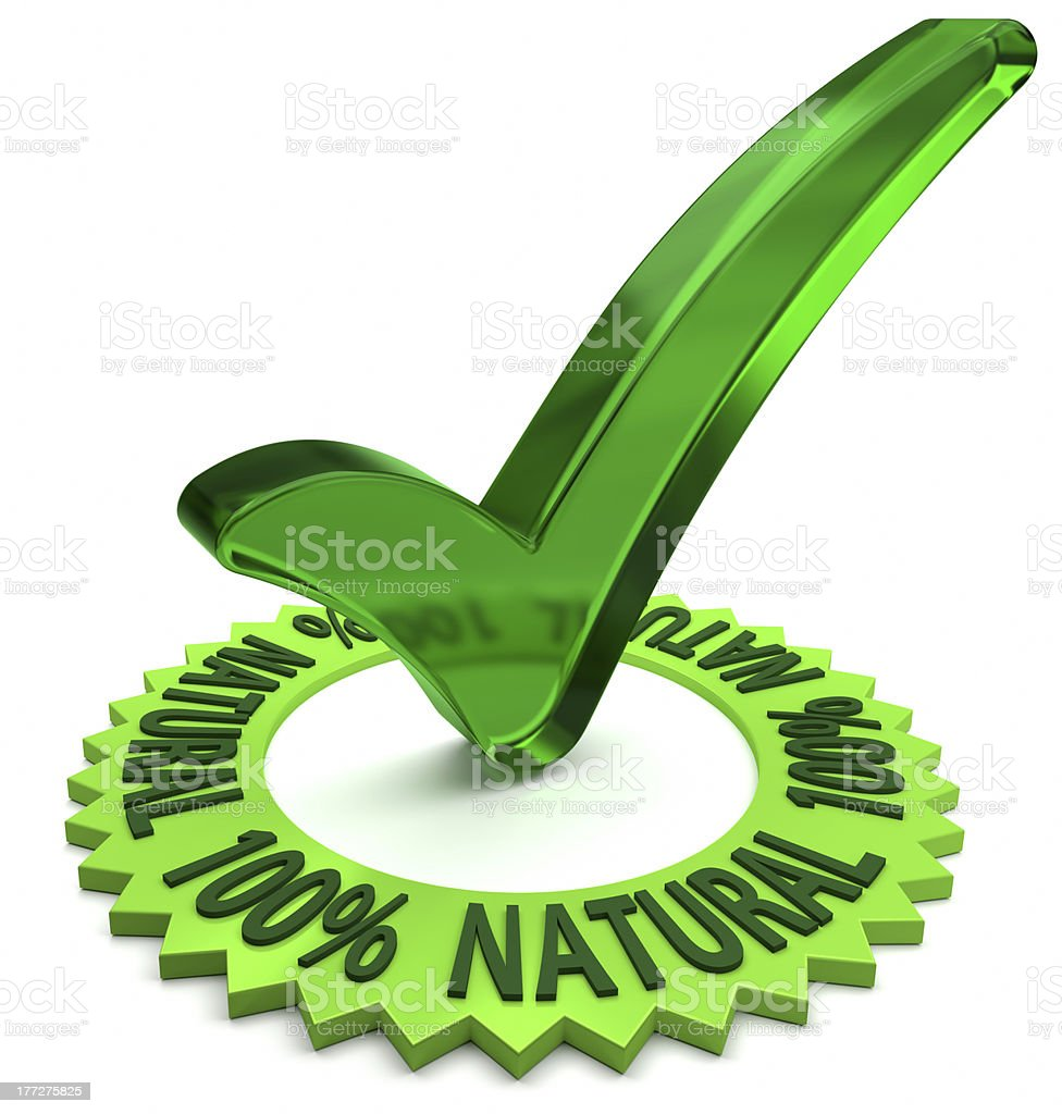 One Hundred Percent Natural stock photo