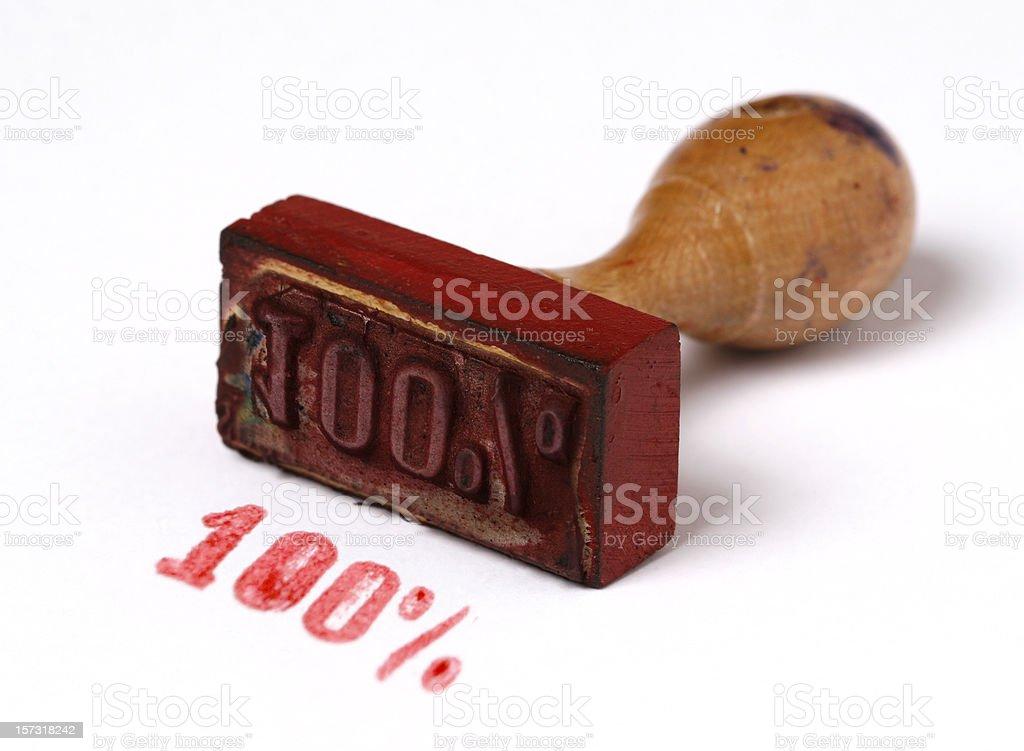 One hundred percent stock photo