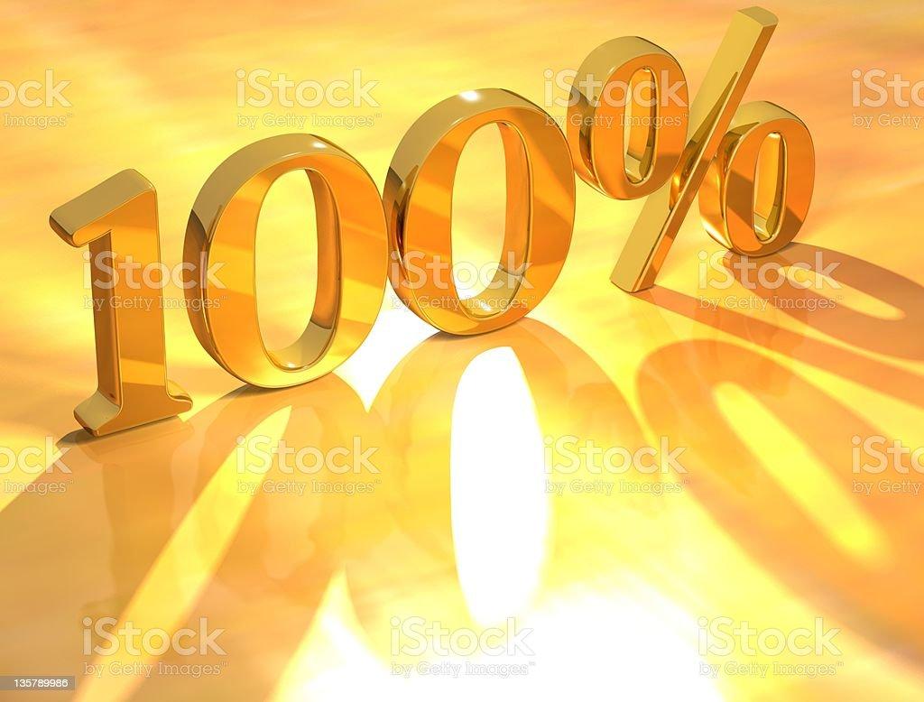 One hundred percent written in God stock photo
