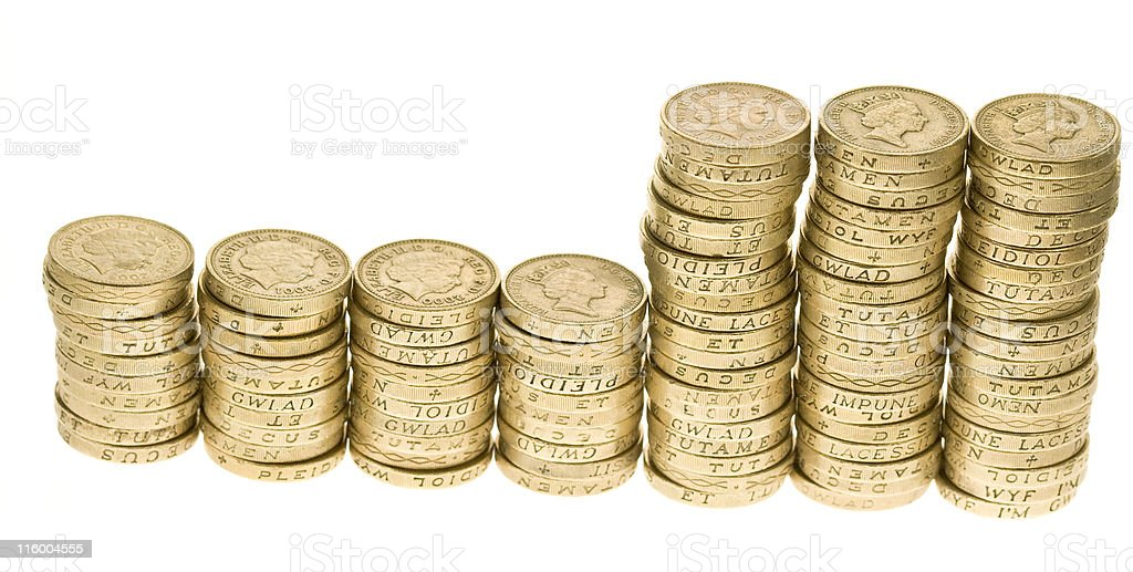 One Hundred Pounds royalty-free stock photo