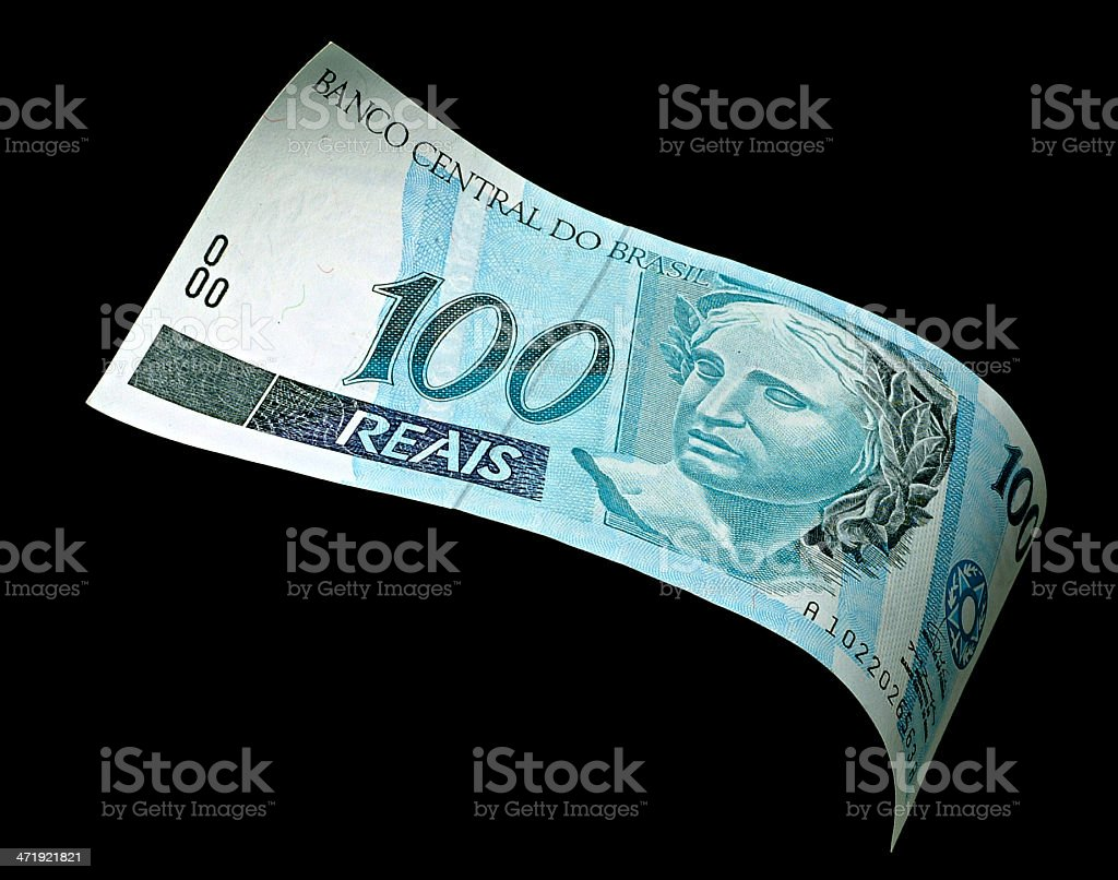 Cem reais - brazilian money stock photo