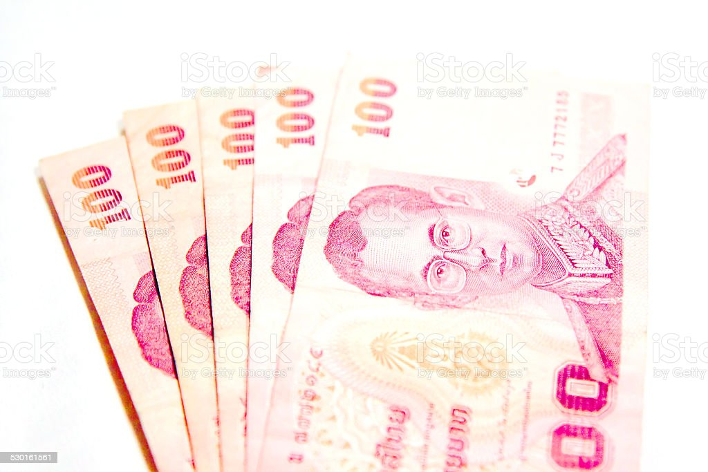 one hundred thai banknote stock photo