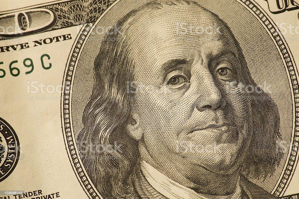 One Hundred US Dollars royalty-free stock photo
