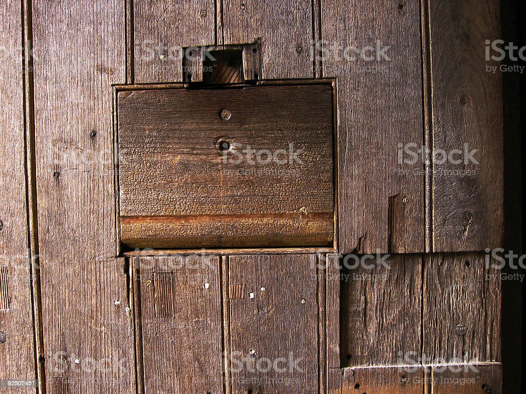 One hundred year old timber door royalty-free stock photo