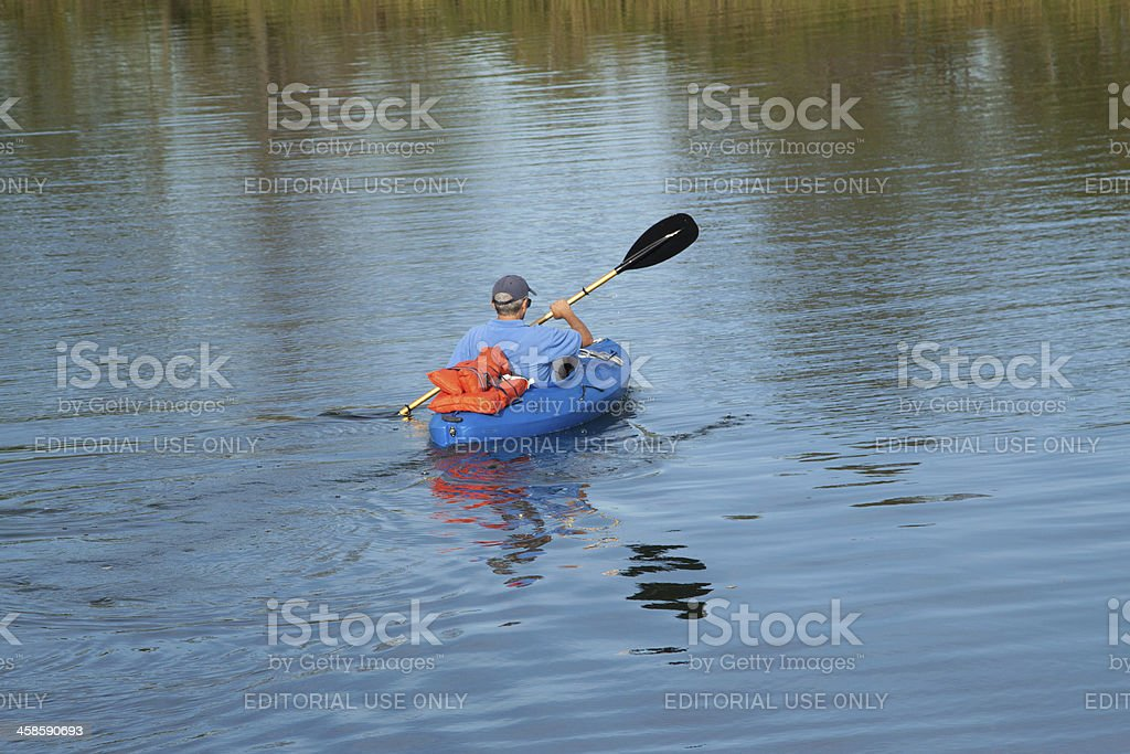 one kayaking royalty-free stock photo