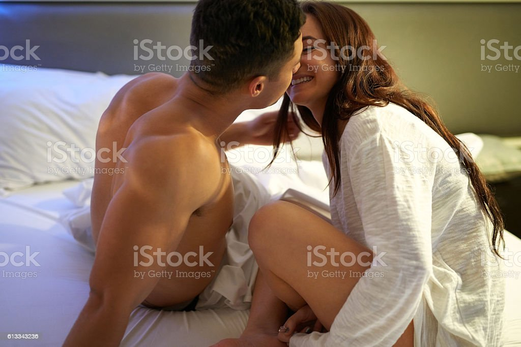 One kiss leads to another stock photo