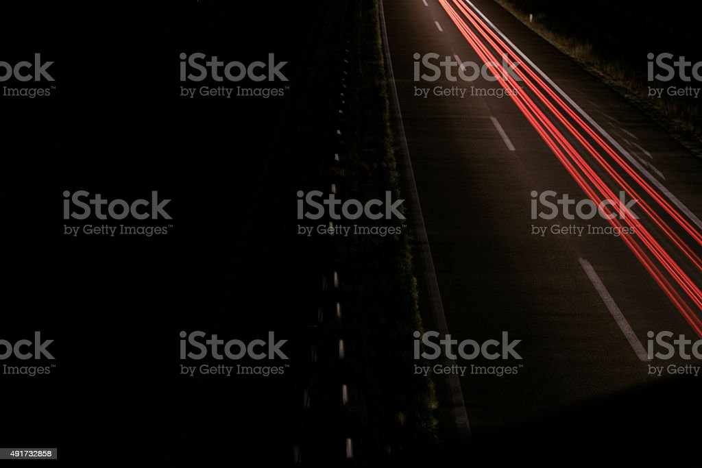 One lane traffic stock photo