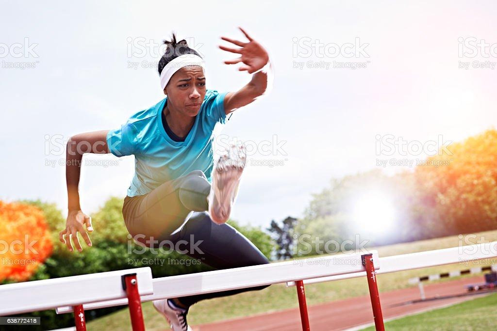 One last hurdle... stock photo