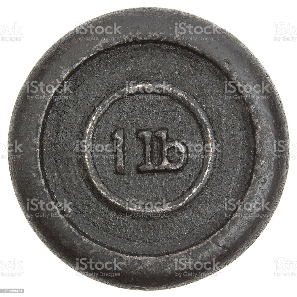 One lb Weight stock photo