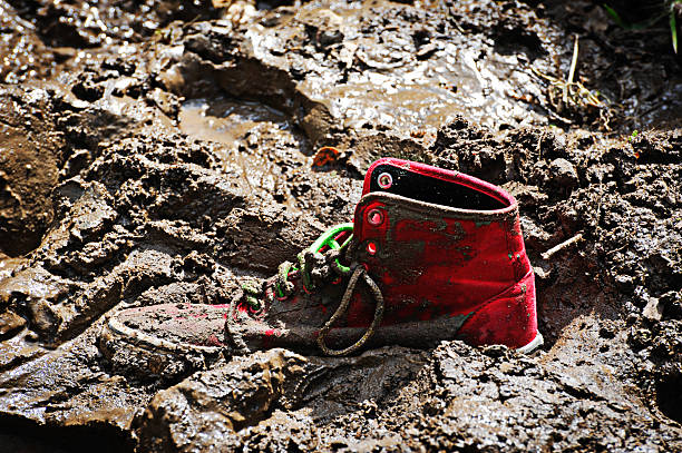 one left behind. - mud stock photos and pictures