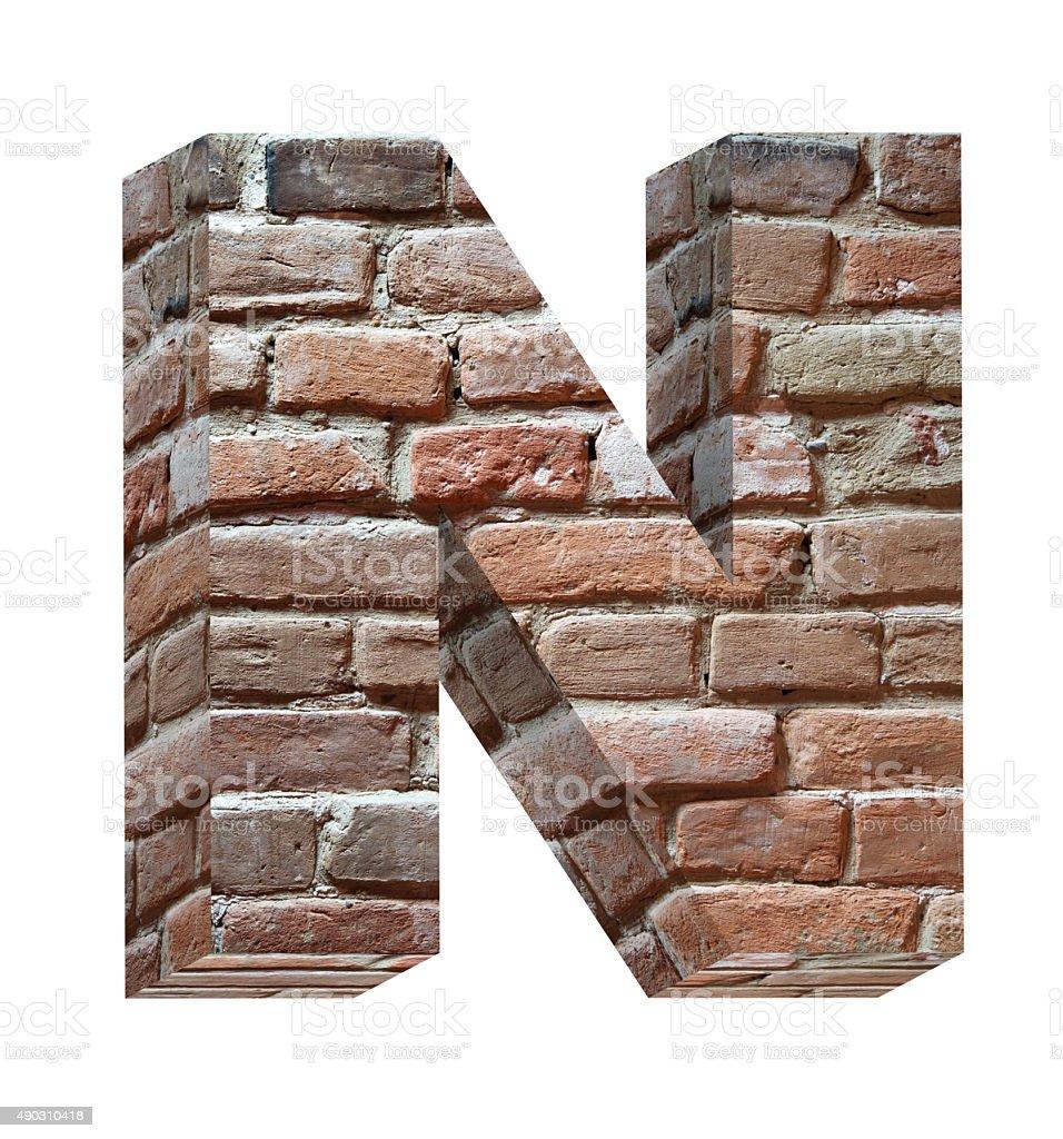 Ein Brief von old brick alphabet set – Foto