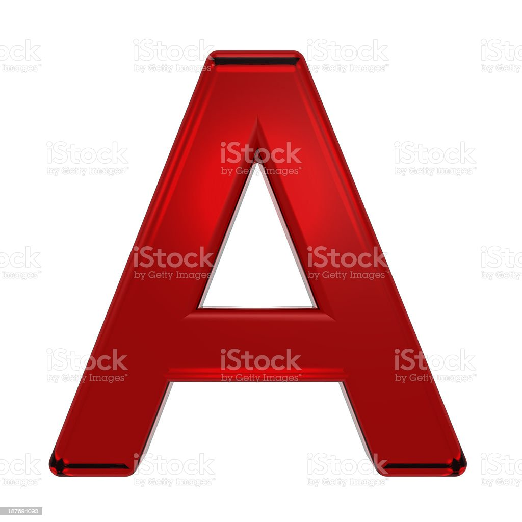 One letter from ruby alphabet set royalty-free stock photo