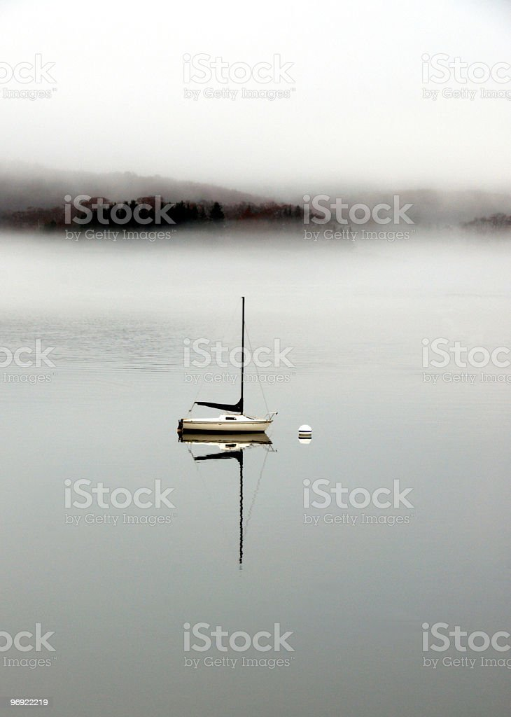One Little Boat royalty-free stock photo