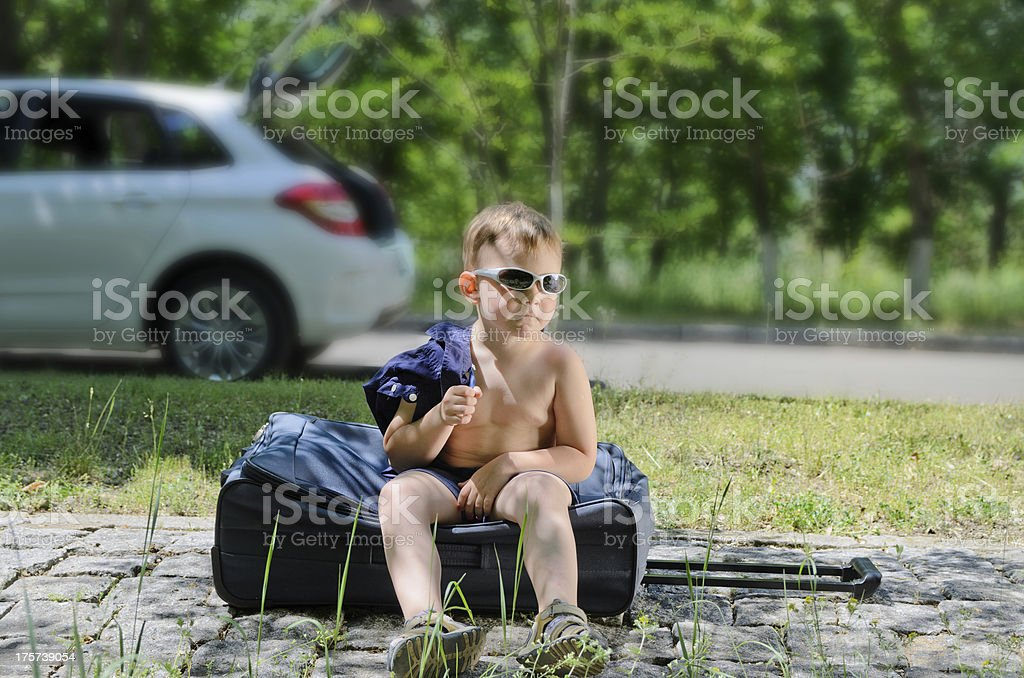 One little boy royalty-free stock photo