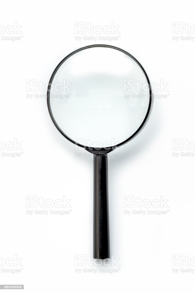 one Magnifying Glass Isolated on a white background stock photo