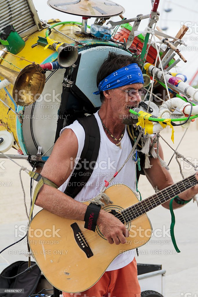 One Man Band royalty-free stock photo
