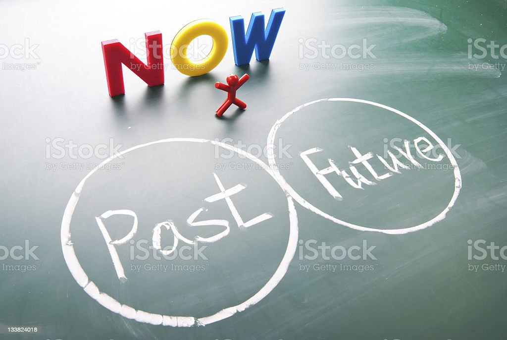 One man between past and future. royalty-free stock photo