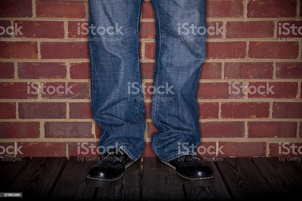 One Man Lineup - Stand Up Comedian royalty-free stock photo