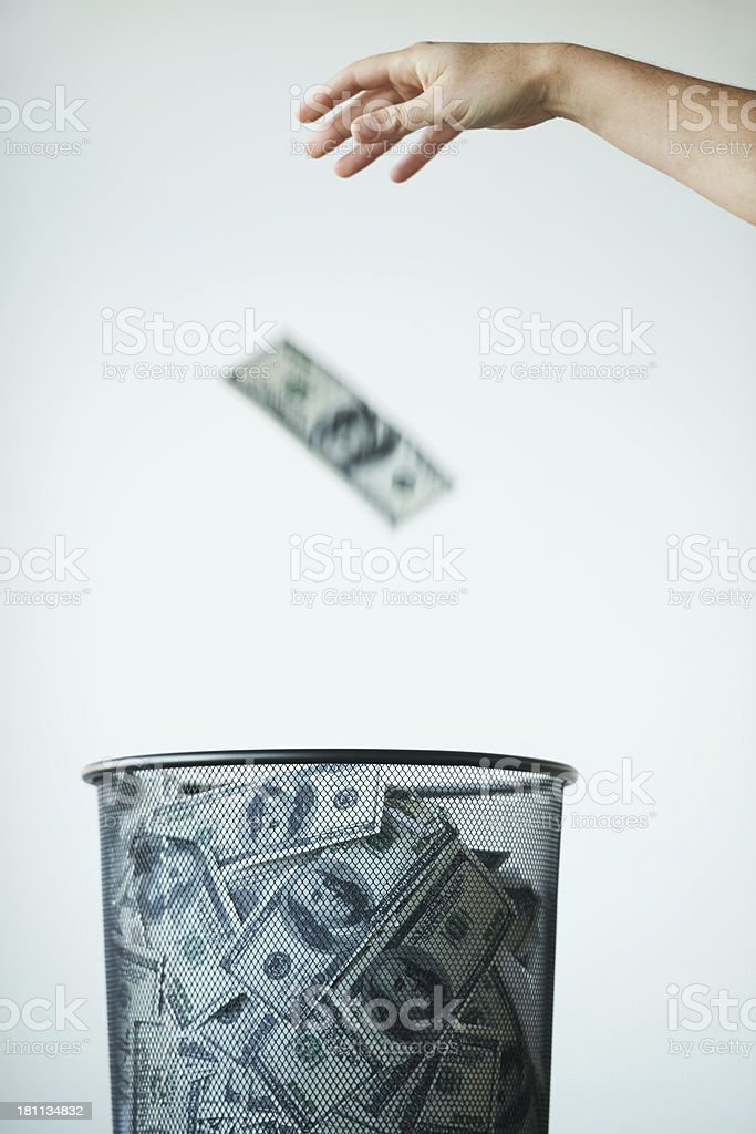 One man's trash is another's treasure stock photo