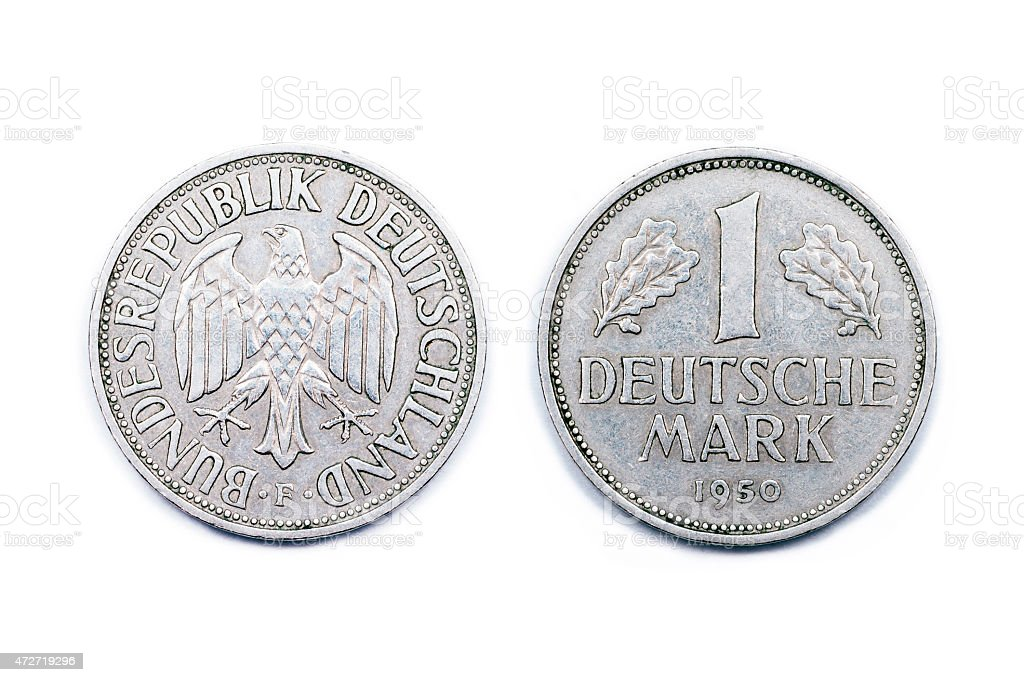 One mark Germany 1950 stock photo