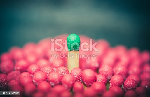 istock One match standing out from the crowd 469697562