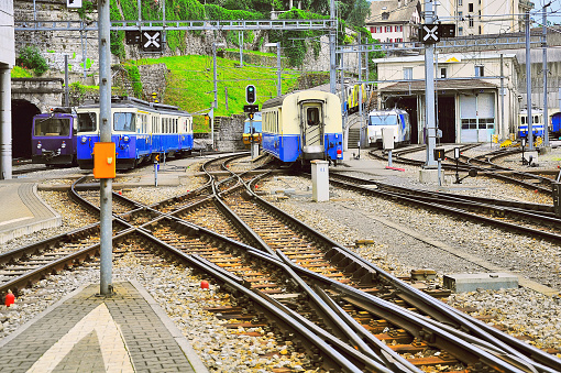 One meter gauge railway station.