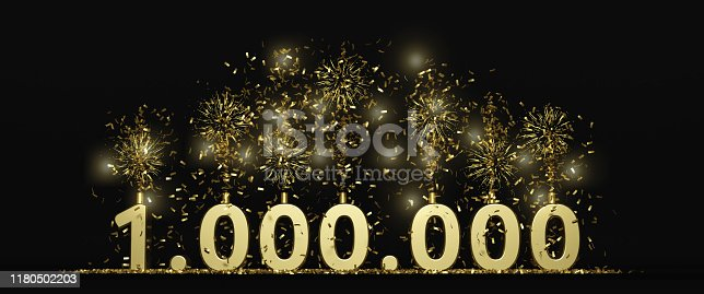 one million celebration illustration for followers, subscribers, prize...